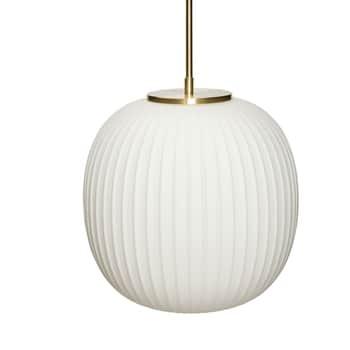 Skleněný lustr White Brass 30×32 cm