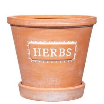 Keramický květináč spodmiskou Herbs