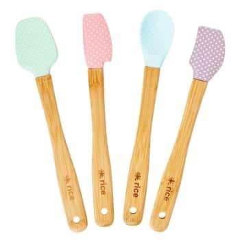 Silikónové kuchynské potreby Dot Pastel - set 4ks