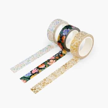 Dizajnová papierová páska Straberry Fields - set 3 ks