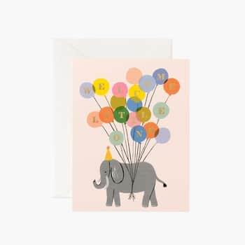 Přání knarození miminka Welcome Elephant