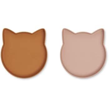 Dětský silikonový talíř Marty Cat
