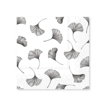 Papírové ubrousky Leaves White 20 ks
