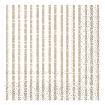 Papírové ubrousky Stripes Linen 20 ks
