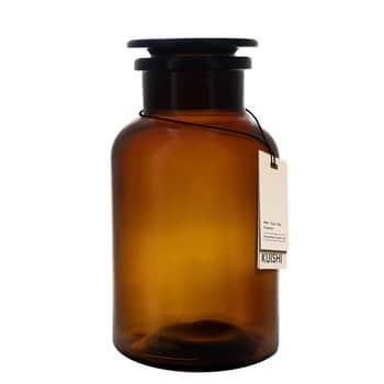 Skleněná dóza svíčkem Amber Apothecary 500ml