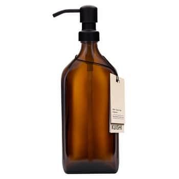 Skleněný obdélníkový zásobník na mýdlo Amber 500ml