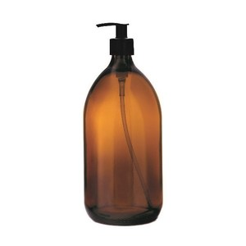 Skleněný zásobník na mýdlo spumpičkou Amber 1000ml