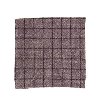 Kuchyňská utěrka Checked Dark Purple 50×70 cm