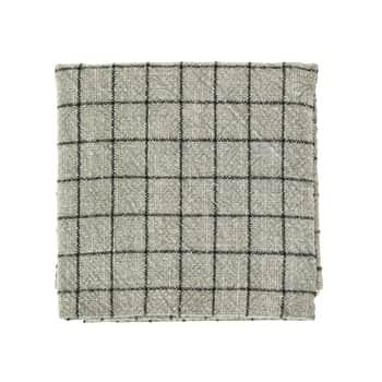 Bavlněná utěrka Checked Greige 50×70 cm