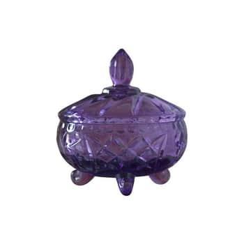 Skleněná dóza svíčkem Glass Purple