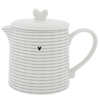 Keramická čajová konvice White Stripes 1l