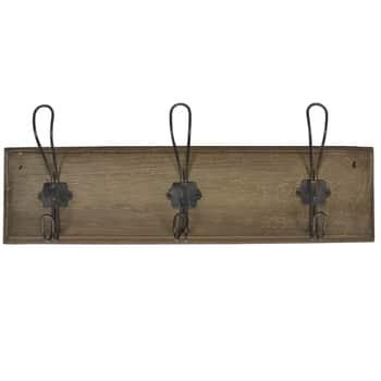 Dřevěný věšák Nature - 3 háčky