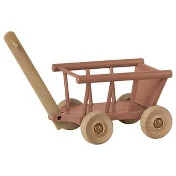 Dřevěný vozík pro zvířátka Maileg Dusty Rose