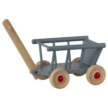 Dřevěný vozík pro zvířátka Maileg Blue