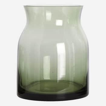 Skleněná váza Ruby Green 16cm