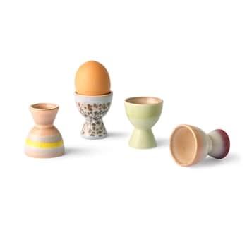 Keramický stojanček na vajcia 70's - Set 4 ks