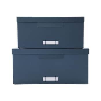 Papierový box na dokumenty Square File Petrol