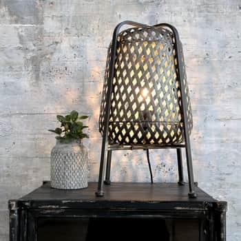 Kovová lampa Braided Antique Coal