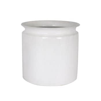 Plechový obal na květináč Floda Antique White XL