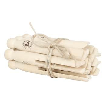 Dřevěné kolíčky na prádlo Natural - Set 10 ks