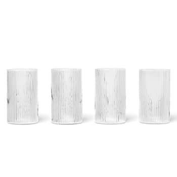 Skleničky Ripple Verrines Clear - set 4 ks