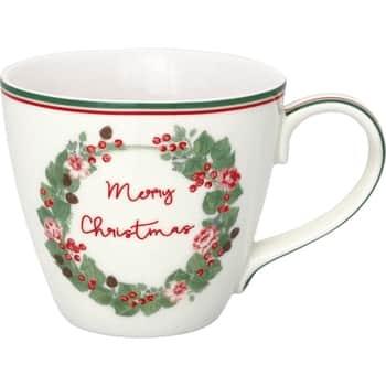 Porcelánový hrneček Merry Christmas White