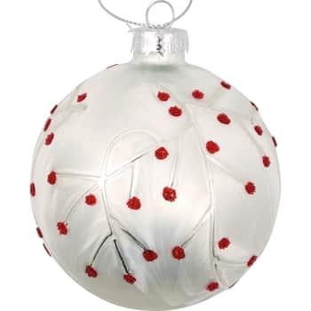 Vánoční baňka Abi Petit White 8 cm