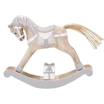 Dřevěný houpací koník Silver Medium