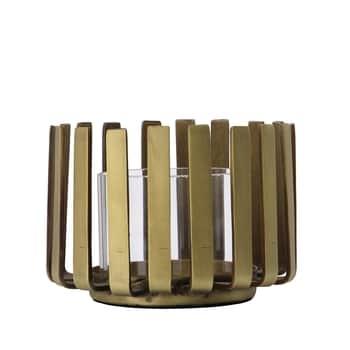 Svícen na čajovou svíčku Bars Antique Brass