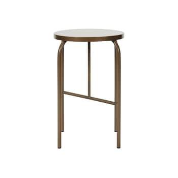 Kovová stolička Golden Brown