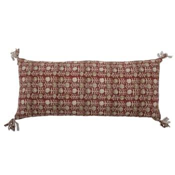 Bavlnený vankúš Deven Red 80x35 cm