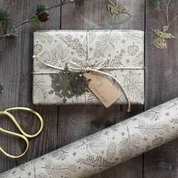 Balicí papír Pine Cones - 10m