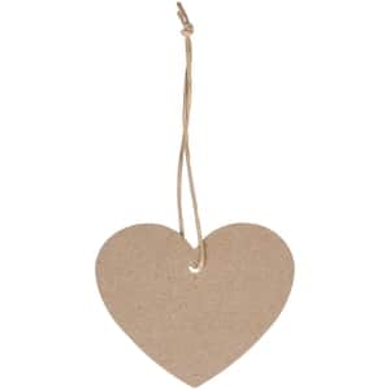 Papírový štítek Heart