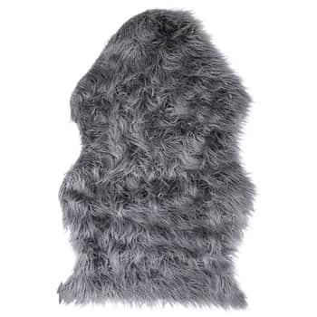 Umělá kožešina Dark Grey 90×60 cm