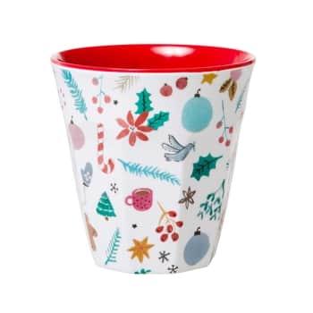 Melaminový vánoční šálek All Over Xmas 250ml