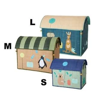 Dětský úložný box Raffia Birthday Animals