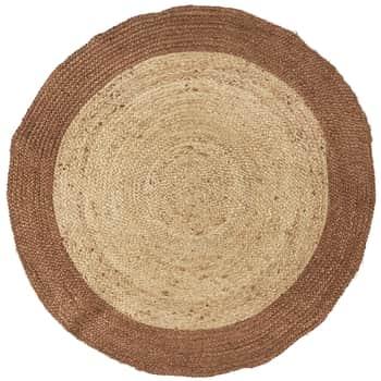 Jutový koberec Brown Edge ⌀120cm