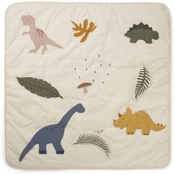 Hrací deka pro děti Dino Dark Sandy Mix - 110×110 cm