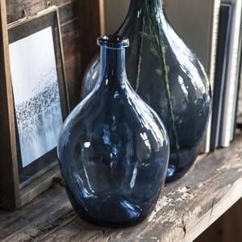 Sklenená váza Balloon Blue Glass