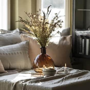 Sklenená váza Balloon Brown Glass