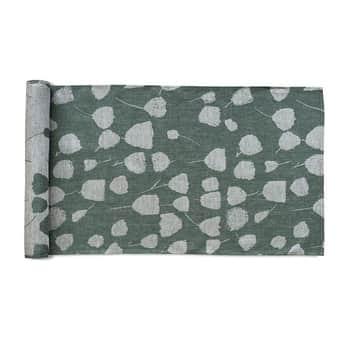 Bavlněný běhoun Bouquet Linen Green 150x45 cm