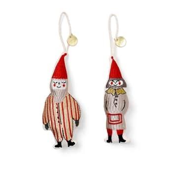 Závěsná vánoční ozdoba Elf Pair - set 2 ks
