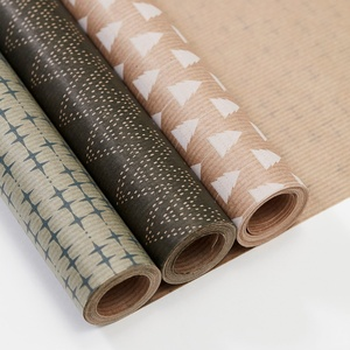 Vánoční balicí papír Crafty Multi - Set 3 ks