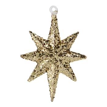 Skleněná vánoční ozdoba Chunky Brown Glitter