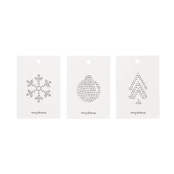 Papírové cedulky na dárky Simple Green - set 6 ks