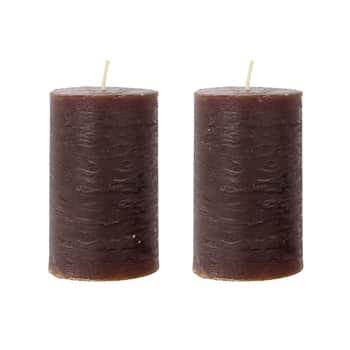Svíčka Pillar Rustic Cognac 10 cm - set 2 ks