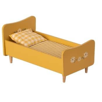 Dřevěná postel pro zvířátka Maileg Yellow Mini