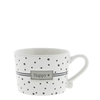 Keramický hrneček Happy Dots Black 150ml