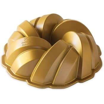 Hliníková forma na bábovku Braided zlatá 2,84l