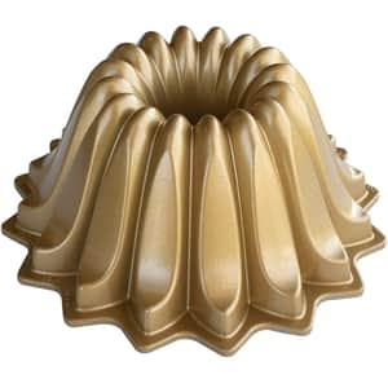 Hliníková forma na bábovku Lotus zlatá 1,18l